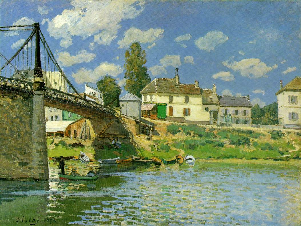 Sisley's Bridge At Villeneuve-la-Garenne