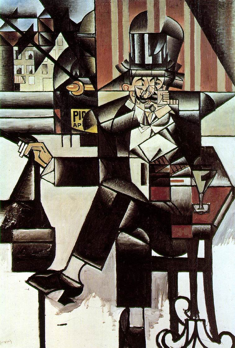 Juan Gris's Man in The Cafe