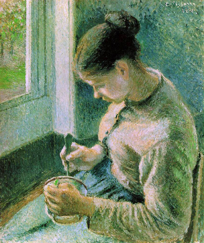 Pissarro's Peasant Girl Drinking Coffee