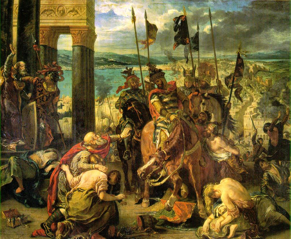 Delacroix's Entry of The Crusaders Into Constantinople