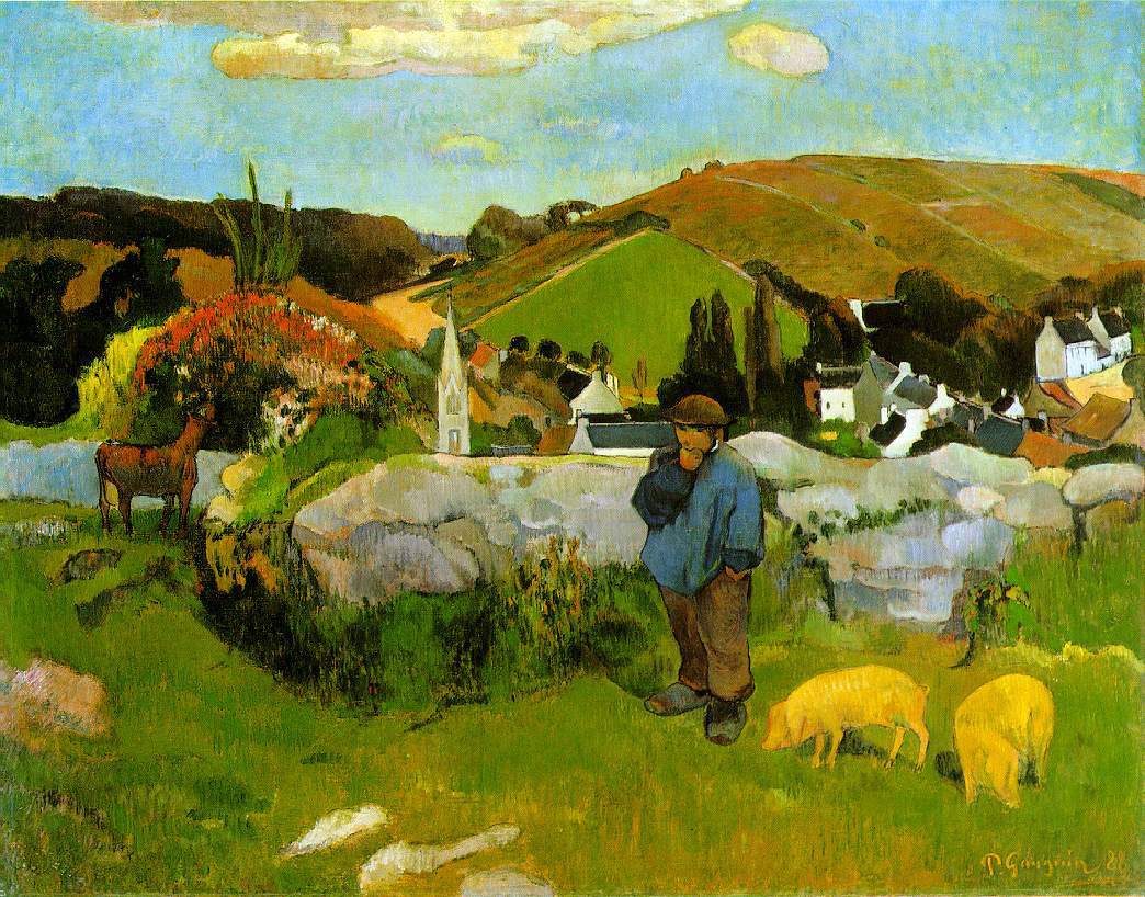 Gauguin's The Swineherd, Brittany