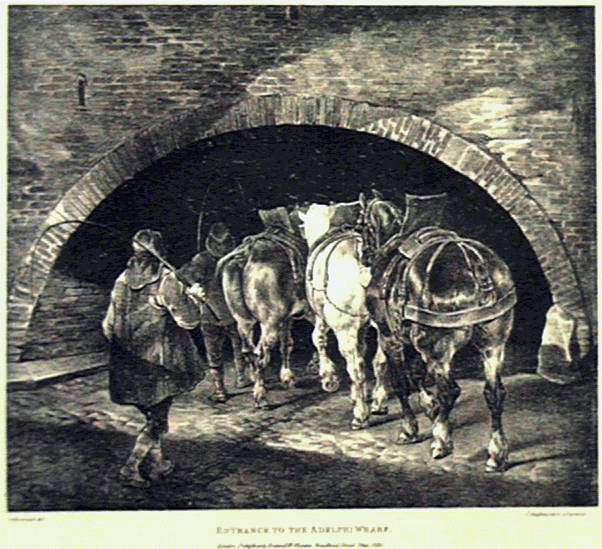 Gericault's Entrance To The Adelphi Wharf