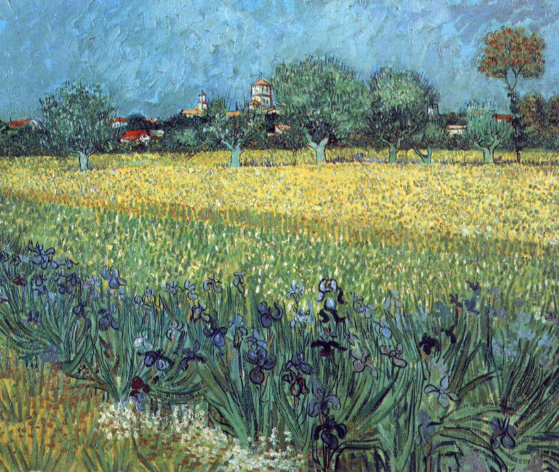 van Gogh's View of Arles With Irises