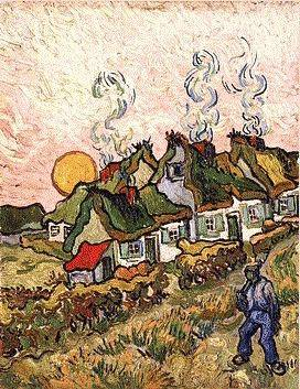 van Gogh's Thatched Cottages in The Sunshine