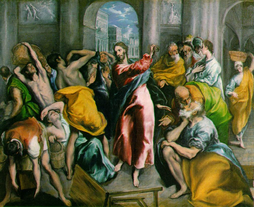 el Greco's Christ Driving The Traders From The Temple