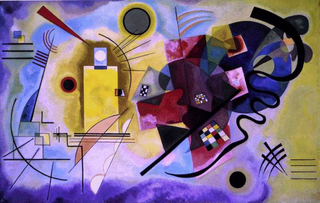 Kandinsky's Yellow, Red, Blue