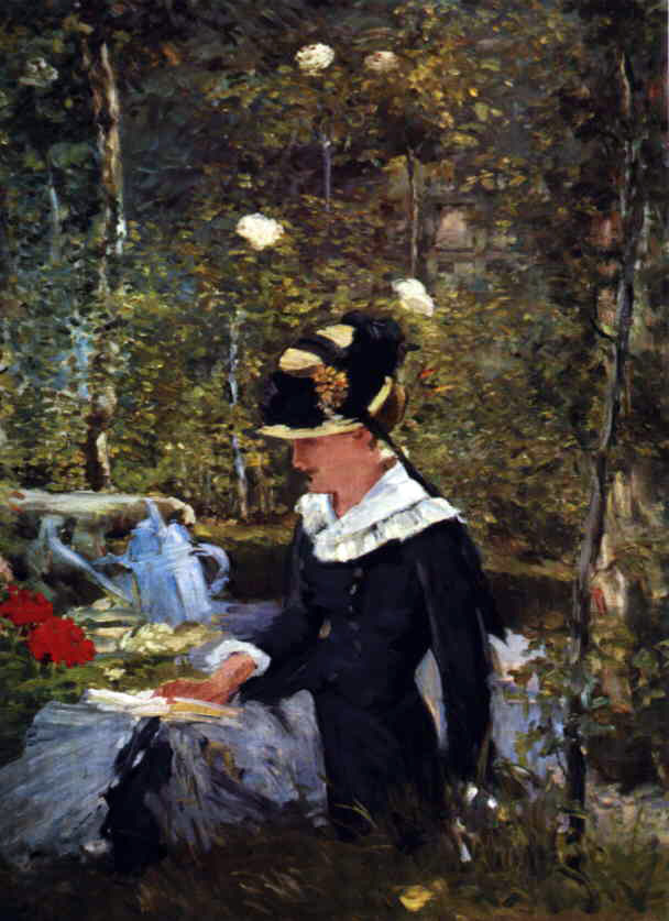 Manet's Young Girl On The Threshold of the Bellevue Garden