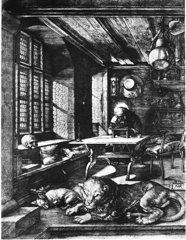 Durer's St. Jerome In His Cell