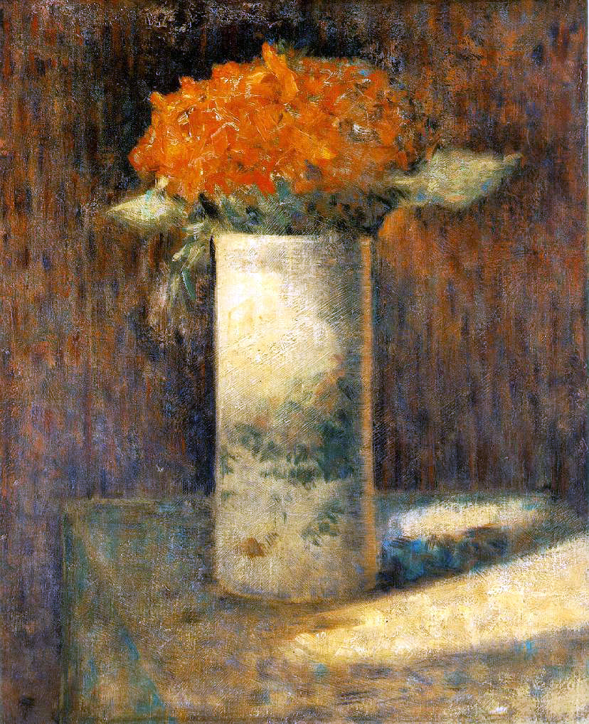 Seurat's Vase of Flowers